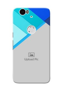 Huawei Nexus 6P Blue Abstract Mobile Cover Design