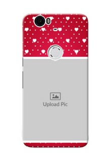 Huawei Nexus 6P Beautiful Hearts Mobile Case Design