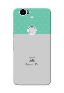 Huawei Nexus 6P Lovers Picture Upload Mobile Cover Design