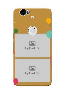 Huawei Nexus 6P 2 image holder with birthday celebrations Design
