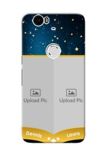 Huawei Nexus 6P 2 image holder with galaxy backdrop and stars  Design