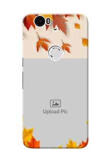 Huawei Nexus 6P autumn maple leaves backdrop Design