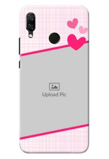 Huawei Nova 3 Pink With Pattern Mobile Cover Design