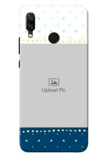 Huawei Nova 3 White And Blue Abstract Mobile Case Design