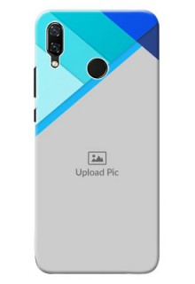 Huawei Nova 3 Blue Abstract Mobile Cover Design