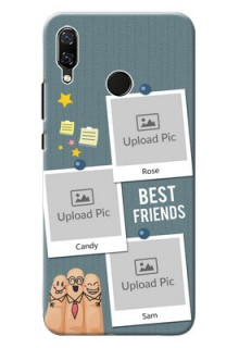 Huawei Nova 3 3 image holder with sticky frames and friendship day wishes Design