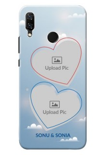 Huawei Nova 3 couple heart frames with sky backdrop Design