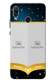 Huawei Nova 3 2 image holder with galaxy backdrop and stars  Design
