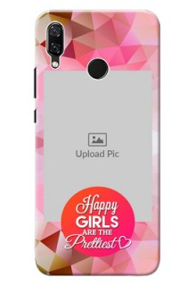 Huawei Nova 3 abstract traingle with girls quote Design