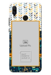 Huawei Nova 3 seamless and floral pattern with smile quote Design