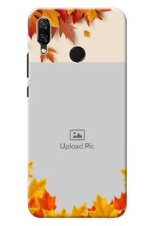 Huawei Nova 3 autumn maple leaves backdrop Design
