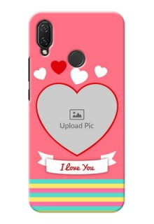 Huawei Nova 3i Personalised mobile covers: Love Doodle Design
