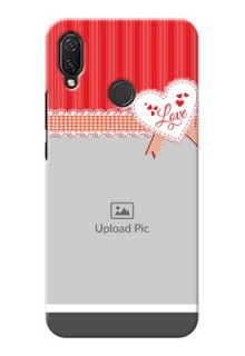 Huawei Nova 3i phone cases online: Red Love Pattern Design