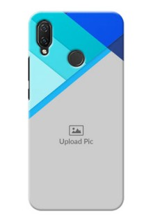 Huawei Nova 3i Phone Cases Online: Blue Abstract Cover Design