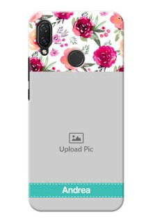 Huawei Nova 3i Personalized Mobile Cases: Watercolor Floral Design
