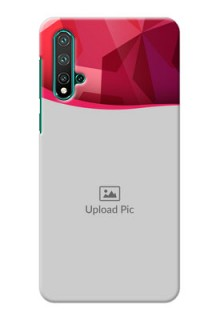 Huawei Nova 5 Pro custom mobile back covers: Red Abstract Design