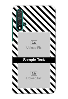 Huawei Nova 5 Pro Back Covers: Black And White Stripes Design