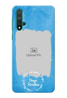 Huawei Nova 5 Pro custom mobile cases: Blue Color Vintage Design