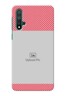 Huawei Nova 5 Custom Mobile Case with White Dotted Design