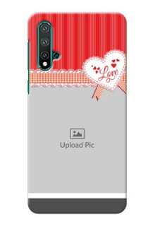 Huawei Nova 5 phone cases online: Red Love Pattern Design