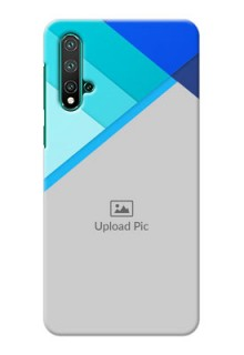Huawei Nova 5 Phone Cases Online: Blue Abstract Cover Design