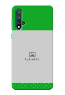 Huawei Nova 5 Personalised mobile covers: Green Pattern Design