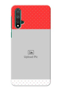 Huawei Nova 5 personalised phone covers: Red Pattern Design