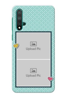 Huawei Nova 5 Custom Phone Cases: 2 Image Holder with Pattern Design