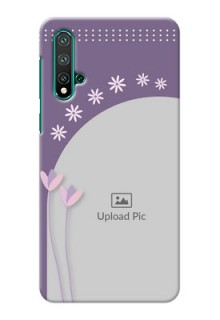 Huawei Nova 5 Phone covers for girls: lavender flowers design