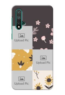 Huawei Nova 5 phone cases online: 3 Images with Floral Design