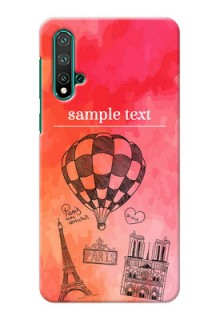 Huawei Nova 5 Personalized Mobile Covers: Paris Theme Design
