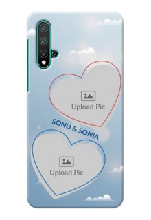 Huawei Nova 5 Phone Cases: Blue Color Couple Design