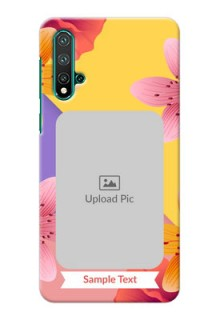 Huawei Nova 5 Mobile Covers: 3 Image With Vintage Floral Design