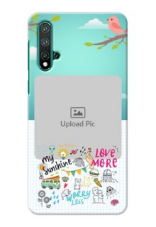 Huawei Nova 5 phone cases online: Doodle love Design
