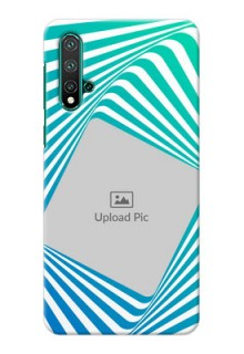 Huawei Nova 5 Personalised Mobile Covers: Abstract Spiral Design