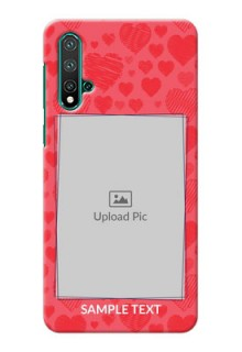 Huawei Nova 5 Mobile Back Covers: with Red Heart Symbols Design