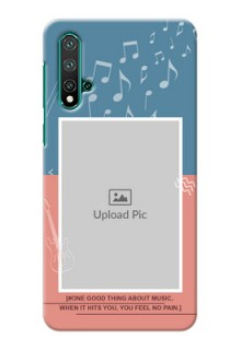 Huawei Nova 5 Phone Back Covers with Color Musical Note Design