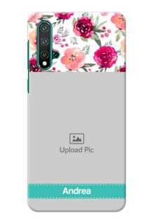 Huawei Nova 5 Personalized Mobile Cases: Watercolor Floral Design