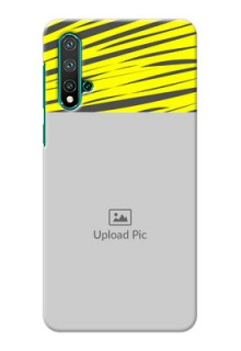Huawei Nova 5 Personalised mobile covers: Yellow Abstract Design