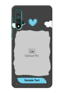 Huawei Nova 5 Mobile Back Covers: splashes with love doodles Design