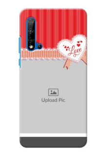 Huawei Nova 5i phone cases online: Red Love Pattern Design