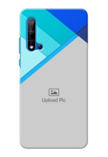 Huawei Nova 5i Phone Cases Online: Blue Abstract Cover Design