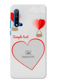 Huawei Nova 5i Phone Covers: Parachute Love Design