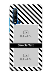 Huawei Nova 5i Back Covers: Black And White Stripes Design