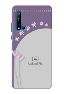 Huawei Nova 5i Phone covers for girls: lavender flowers design
