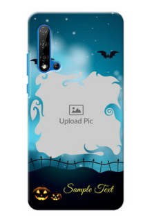 Huawei Nova 5i Personalised Phone Cases: Halloween frame design