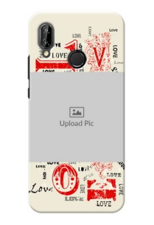 Huawei P20 Lite Lovers Picture Upload Mobile Case Design
