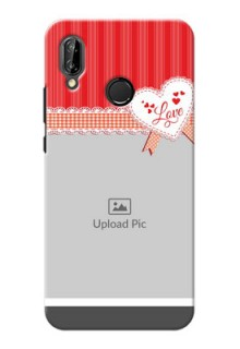 Huawei P20 Lite Red Pattern Mobile Cover Design