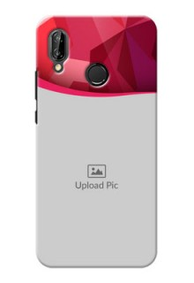 Huawei P20 Lite Red Abstract Mobile Case Design