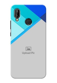 Huawei P20 Lite Blue Abstract Mobile Cover Design